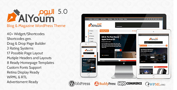 AlYoum WordPress Theme free download