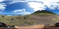 The Mokule'ia section of the Ka'ena Point State Park Reserve, O'ahu, Hawai'i - a 360° Equirectangular VR