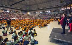 """Mar, 04/04/2017 - 10:43 - L'alcadessa assisteix al """"Dansa Ara"""", on més de vuit mil alumnes de segon de Primària ballen dansa contemporània"""