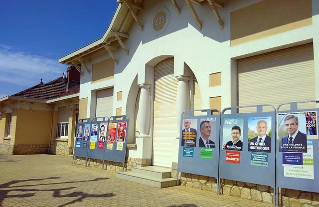 affiches candidats à l'élection présidentielle