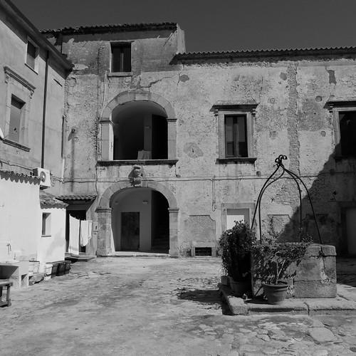Castle courtyard in Monasterace