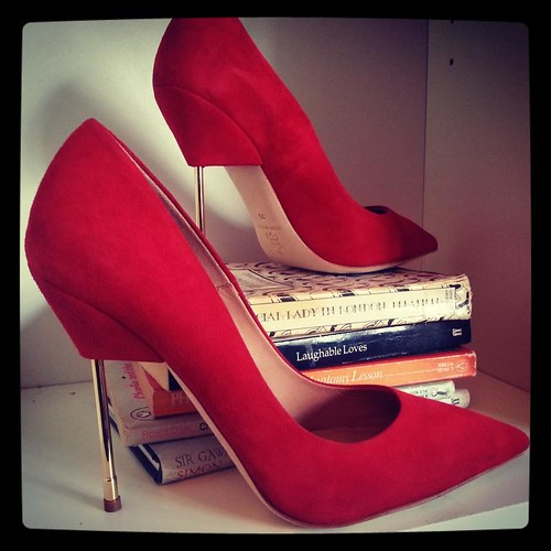 scarlet suede Elliot by Kurt Geiger London