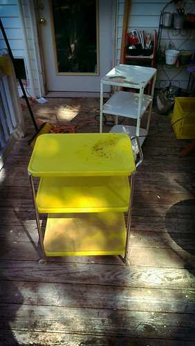 Refinishing metal carts! by The Paper Doll