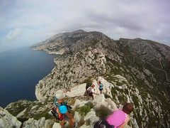 Marseille Calanques walkers working up a sweat