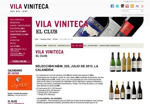 Selección del mes en Vila Viniteca