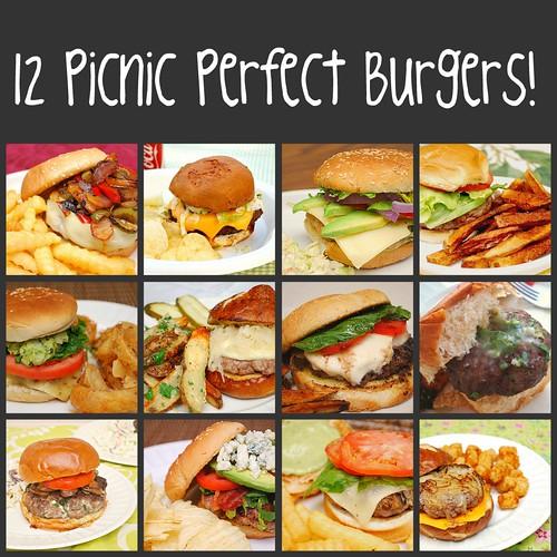 12 Picnic Perfect Burgers!