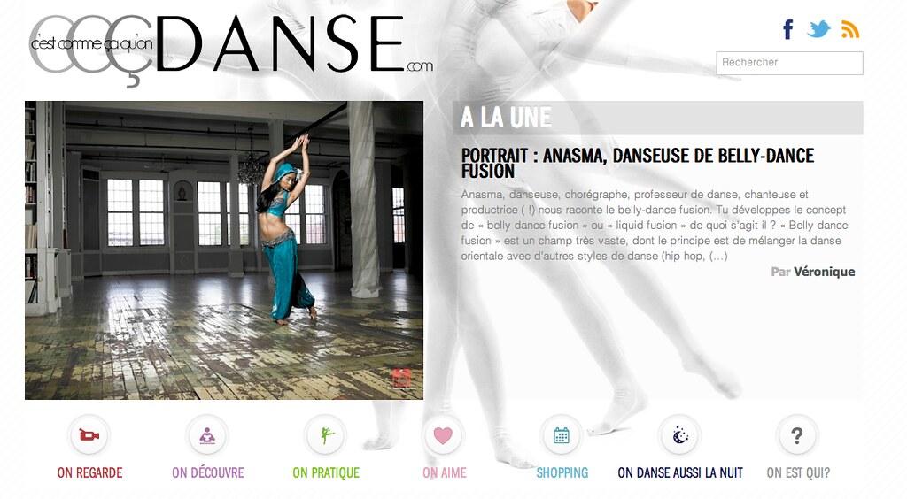 201304 Interview Anasma  a la une C'est comme ca qu'on danse