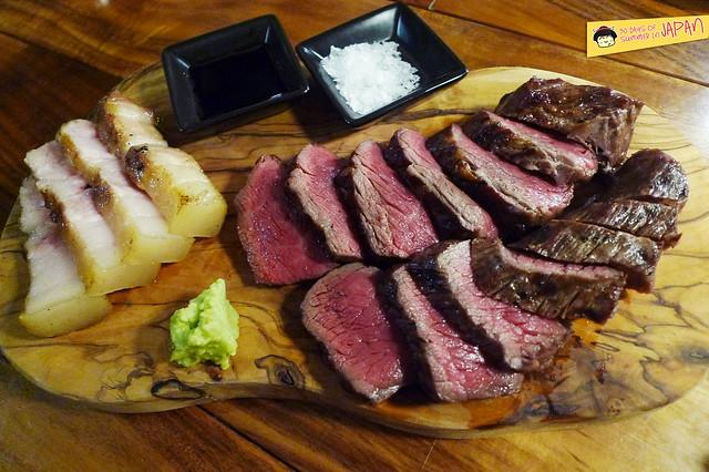 kitchen tachikichi - rump beef and pork loin