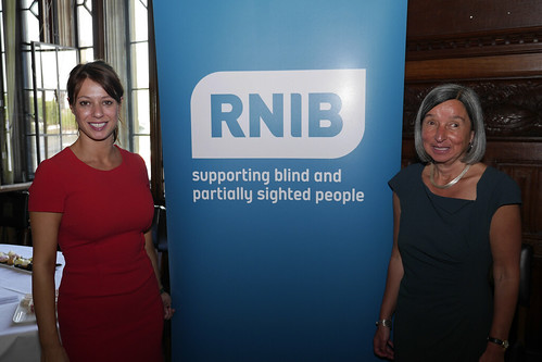 Gloria shows her support for the RNIB