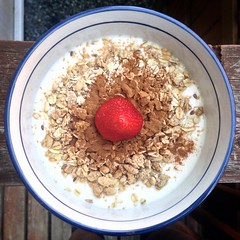 coconut(0.0), produce(0.0), snack food(0.0), breakfast cereal(1.0), meal(1.0), breakfast(1.0), food(1.0), dish(1.0), dessert(1.0), muesli(1.0), cereal(1.0), cuisine(1.0),