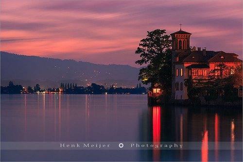 longexposure sunset sky lake holiday color colour tower water colors horizontal canon landscape lights switzerland evening landscapes town colorful soft mood colours cross dusk swiss smooth atmosphere romance le romantic thun bern bluehour colourful thunersee spiez berneseoberland curch aftersunset oberhofen lakethun kanton cantonbern floydian holidaydestination canoneos1dsmarkiii henkmeijer