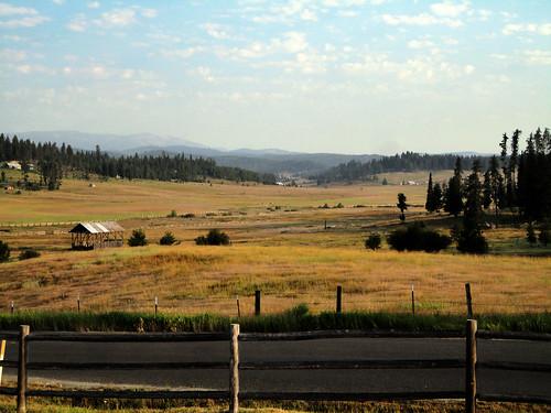 field barn landscape scenery idaho elkcity