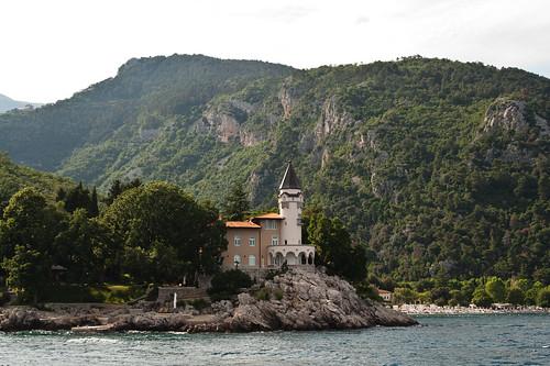 houses sea summer house hot green tower castle nature sailing croatia
