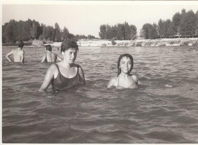 Baño en el Tajo en Toledo hacia 1965 © Familia Del Cerro Corrales