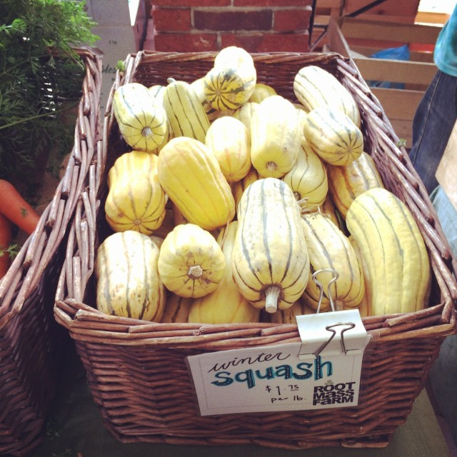 I am so happy to have delicata squash back!