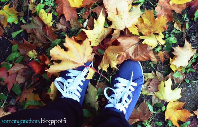lehtiä ja kengät