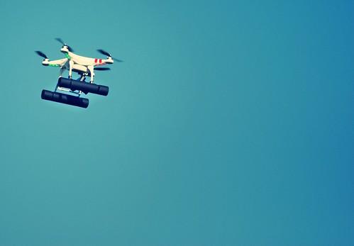 DJI Phantom Drone in the air