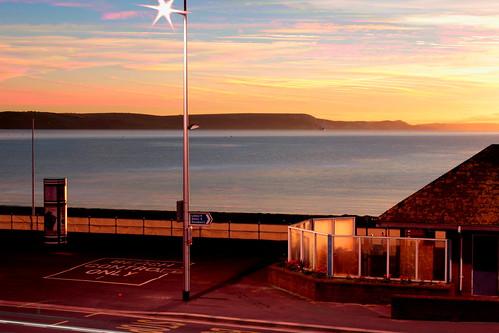 sea beach composite sunrise dawn view weymouth jurassiccoast whitenothe