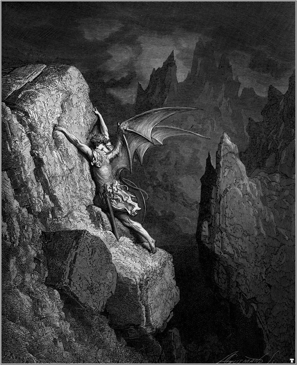 7. Lucifer y el Paraiso perdido. Obra de Gustavo Doré (1832-1883)