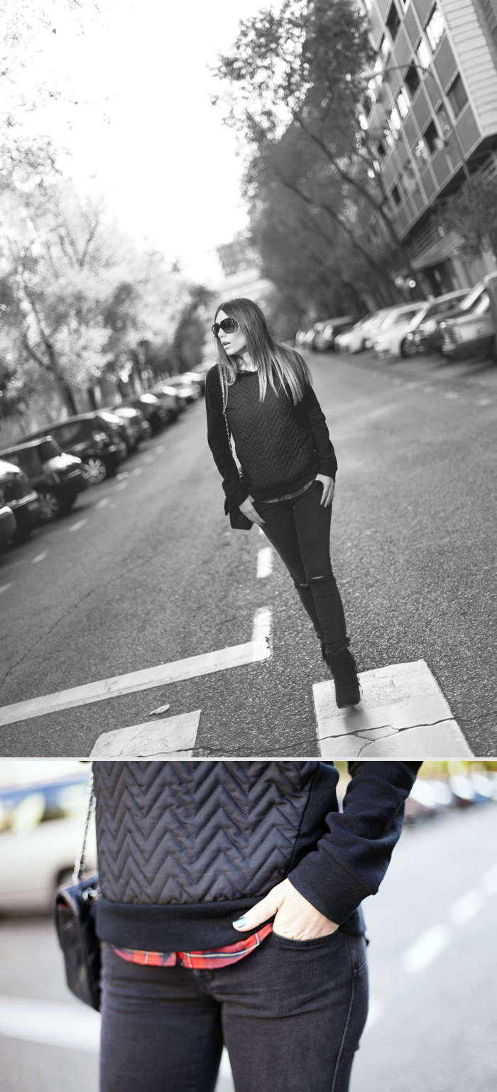 street style barbara crespo all black C&A outfit fashion blogger