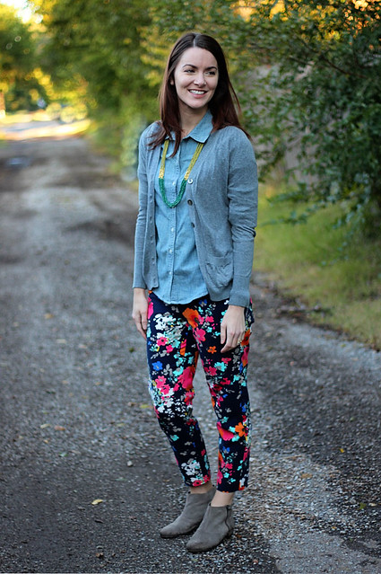 floral-pants-chambray-with-cardigan-1