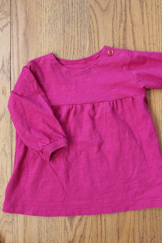 Pink Gathered Yoke Shirt 3
