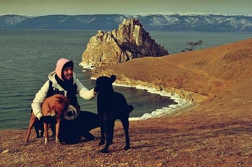 Felipe en el Lago Baikal