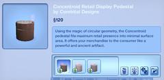 Concentroid Retail Display Pedestal by Corebital Designs