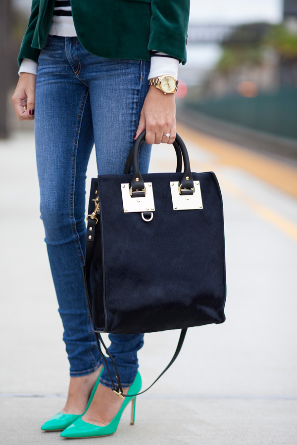sophie hulme hair-calf mini tote, petite, fashion blogger, los angeles