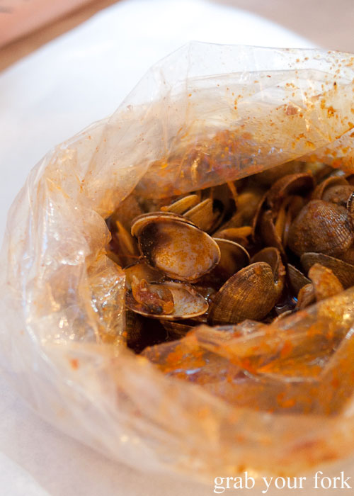 clams seafood Boiling Crab Korea Town Los Angeles California