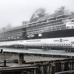 Twas a foggy morning in #maine @CelebrityCruise #CelebritySummit #cruise #travel