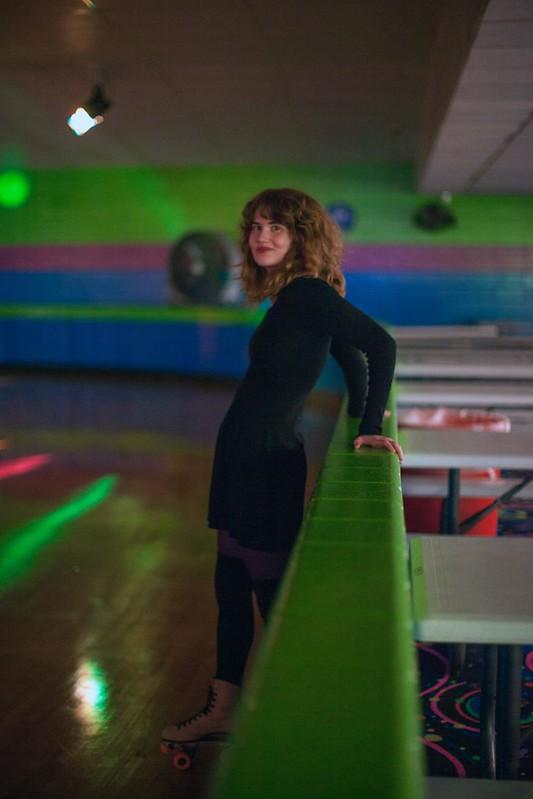 Kitten Forever music video shoot at Skateville