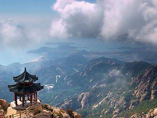 china sea mountain asia asien gimp olympus qingdao laoshan 2010 tsingtao e410
