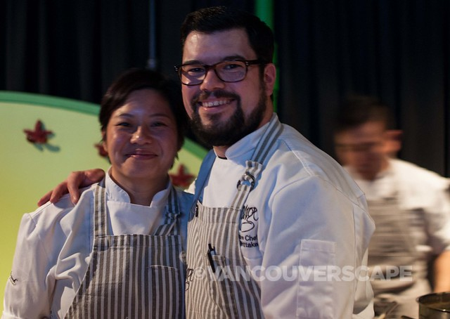 Forage Vancouver Chef Chris Whittaker poses with his wife