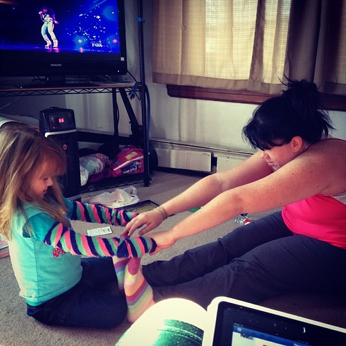 How sweet is my babe?  She was helping me stretch the other day after my run.  #latergram