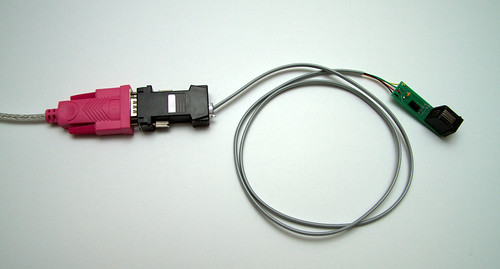 USB to RS-232 to 1-Wire to DS1820
