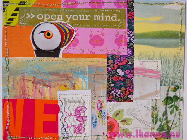 DIY Postcard Pop Art Collage - Open your Mind