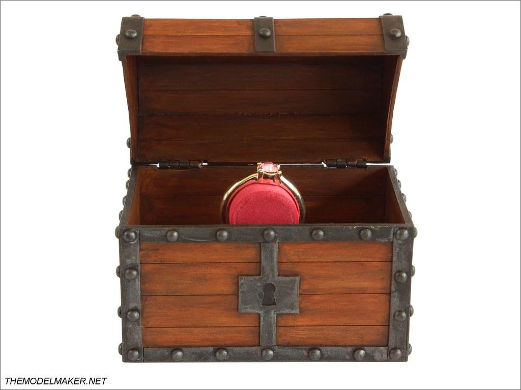 Zelda Cross Stitched Engagement Ring Box  Treasure Chest
