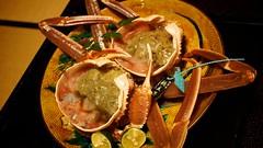 20131121_日本北陸玩_第八天 402 前面蟹腳刺身 的 身體,第一、二隻橋立港加能蟹