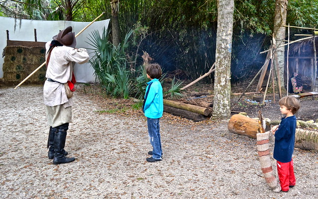 Fountain of Youth - Ponce de Leon, St. Augustine Florida- bow and arrow training