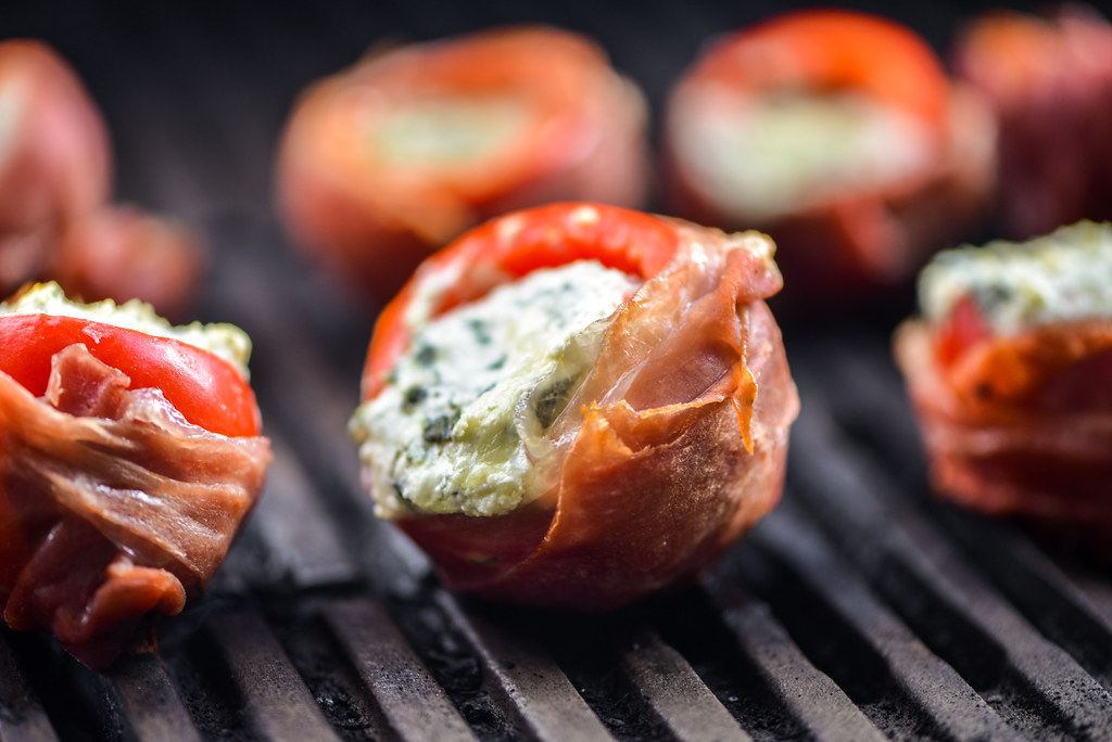 Prosciutto-Wrapped Stuffed Cherry Peppers