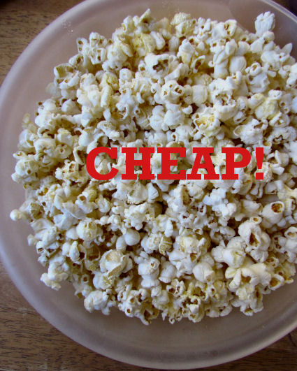 Airpopped Popcorn is a Cheap Snack
