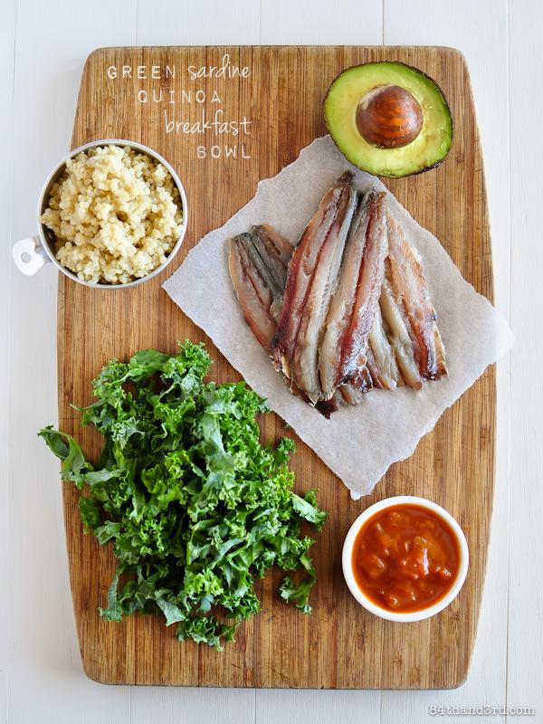 Green Sardine Quinoa Breakfast Bowl