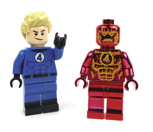 Lego Minifig Johnny Storm - Chrome Torch (Custom Bricks) by LaPetiteBrique.com