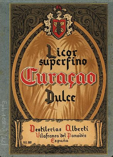 016-Colección de etiquetas de bebidas Álbum de etiquetas de las Destilerías Alberti -1890-1930- Biblioteca Digital Hispánica