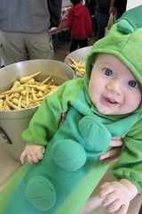 Zeke as a Peapod with Parsnips