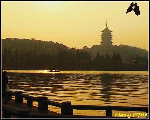 杭州 西湖 (其他景點) - 542 (西湖十景之 柳浪聞鶯 在這裡準備觀看 西湖十景的雷峰夕照 (雷峰塔日落景致)