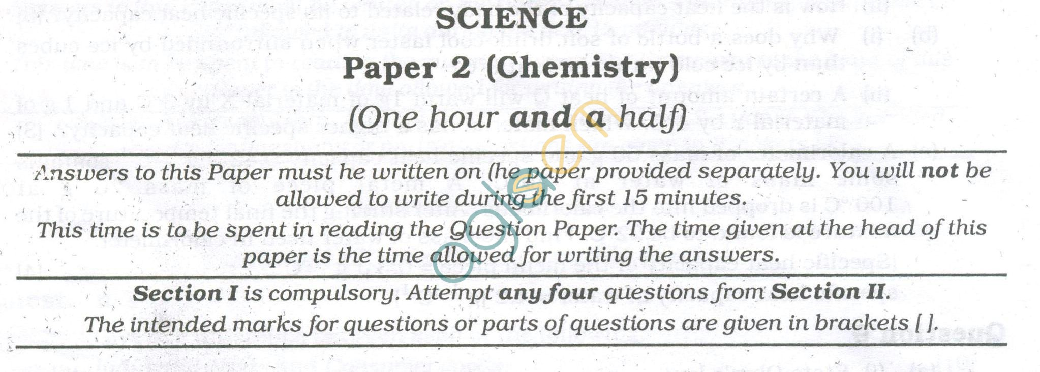 ICSE Question Papers 2013 for Class 10 - Chemistry