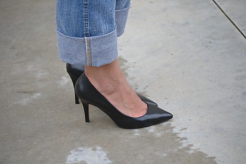 zapato de salón negro Bershka