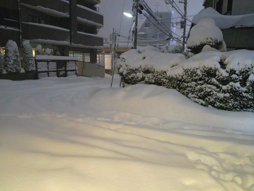 2014/02/14 深夜1時ごろの自宅付近の様子